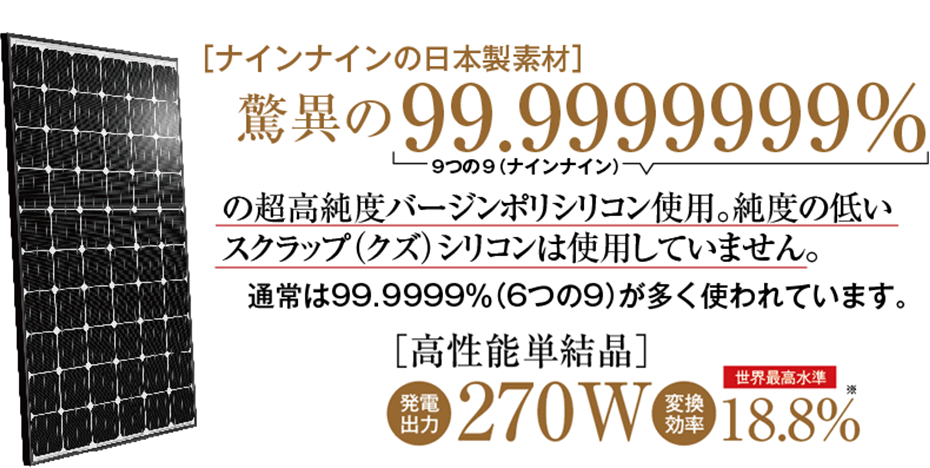 ナインナインの日本製素材