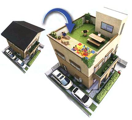 木造建築バルコニー防水工法 スカイプロムナード
